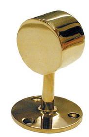 1-1/2in End Post-Flush POL BRASS, Price/EA