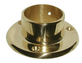 1-1/2in Wall Flange POL BRASS, Price/EA