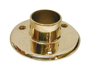 1-1/2in Floor Flange POL BRASS, Price/EA