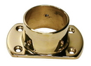 2in Cut Wall Flange POL BRASS