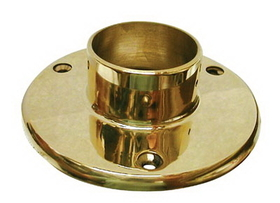 2in Floor Flange POL BRASS, Price/EA