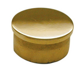 2in Flush End Cap POL BRASS, Price/EA