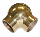 1-1/2in Ball Elbow 90 Deg POL BRASS