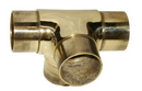 2in Flush Side Outlet Tee POL BRASS
