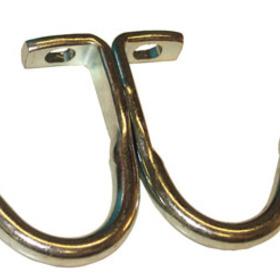 Double Prong Locker Hook ZINC, Price/EA