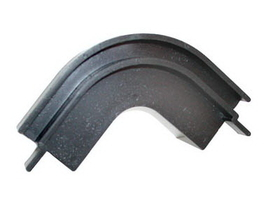 Flush Mount Corner Track BLACK , Price/EA