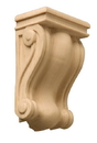 5x3 Scroll Corbel Fluted Back CH