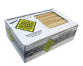 CEDAR Wood Shims 56 Ct Box, Price/BX