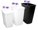 Wastebin 36 Qt WHITE 14.75x10.75x18