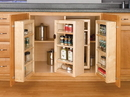 Swing Out Pantry Kit 4 Units Wood