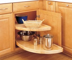 Rev-A-Shelf  35in Half Moon Wood Lazy Susan Set, Price/ST