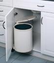 14 Liter Pivot Out Waste Bin WHITE