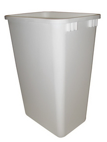 Rev-A-Shelf  50Qt Waste Bin WHITE, Price/EA