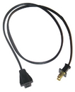 36in Ext Cord Standard Ends BLACK