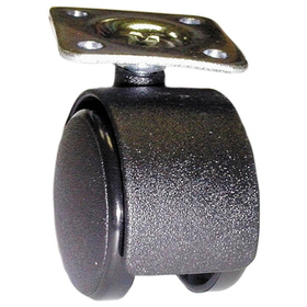 40mm Castor Plate BLACK, Price/EA