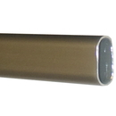 Oval Closet Rod 8ft DULL NICKEL