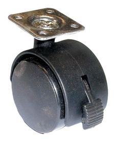 50mm Castor Plate W/Brake BLACK, Price/EA
