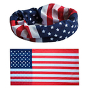 GOGO American Flag Bandana Patriotism Headband US Bandana, Memorial Day, Veterans Day Unisex Headwrap Perfect for Camping, Hiking, Fishing, Running, Biking, Celebrating