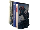 Handcrafted Model Ships 2-k-0136-seaworn Set of 2- Seaworn Blue Cast Iron Anchor Book Ends 8