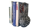 Handcrafted Model Ships 2-k-49007-silver Set of 2- Antique Silver Cast Iron Sailor's Knot Book Ends 10