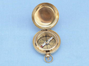 Handcrafted Model Ships CO-0602 Solid Brass Scout's Push Button Compass 2