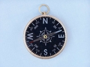 Handcrafted Model Ships CO-0649 B Solid Brass Admiral's Black Faced Compass 4