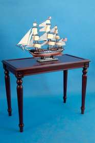 "Handcrafted Model Ships DT04 Rosewood Display Table 41"" L x 22"" W x 31"" H"