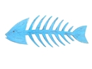 Handcrafted Model Ships Fishbone-25-light-blue Wooden Rustic Light Blue Fishbone Wall Mounted Decoration 25