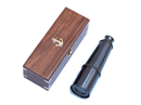 Handcrafted Model Ships FT-0215-Black Deluxe Class Solid Brass Antique Admiral's Spyglass Telescope 27