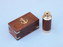 Handcrafted Model Ships FT-0242 Deluxe Class Solid Brass - Wood Scout's Spyglass Telescope 7