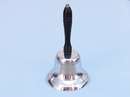 Handcrafted Model Ships HB-2013-CH Chrome Hand Bell with Black Handle 11