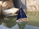 Handcrafted Model Ships It-Floats-Blue-Blue-Sails It Floats 12