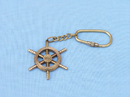 Handcrafted Model Ships K-243A Solid Brass/Copper Ship Wheel Key Chain 5