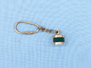 Handcrafted Model Ships K-256A Solid Brass Green Ship Oil Lamp Key Chain 4