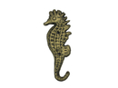 Handcrafted Model Ships K-575-gold Rustic Gold Cast Iron Seahorse Hook 7