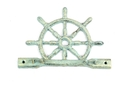 Handcrafted Model Ships K-718-bronze Antique Bronze Cast Iron Ship Wheel With Hook 8