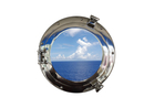 Handcrafted Model Ships MC-1963-12 CH - W Deluxe Class Chrome Porthole Window 12