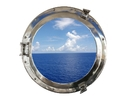 Handcrafted Model Ships MC-1965-20 CH - W Deluxe Class Chrome Porthole Window 20