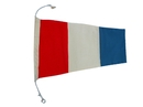 """Handcrafted Model Ships Nautical-Flag-3 Number 3 - Nautical Cloth Signal Pennant - 20"""""""