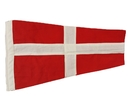 """Handcrafted Model Ships Nautical-Flag-4 Number 4 - Nautical Cloth Signal Pennant - 20"""""""