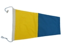 """Handcrafted Model Ships Nautical-Flag-5 Number 5 - Nautical Cloth Signal Pennant - 20"""""""