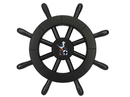 Handcrafted Model Ships New-Black-SW-12-Seagull Pirate Decorative Ship Wheel With Seagull 12
