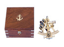 Handcrafted Model Ships NS-0427 Captain's Brass Sextant 8""