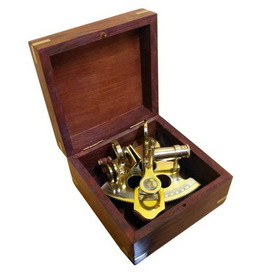 Handcrafted Model Ships NS-0444 Scout's Brass Sextant 4""