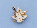 Handcrafted Model Ships NS-0454 Brass Sextant Paperweight 3