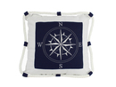 Handcrafted Model Ships Pillow 109 Blue Compass With Nautical Rope Decorative Throw Pillow 16