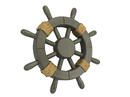 Handcrafted Model Ships Rustic -12 Grey W Antique Decorative Ship Wheel 12