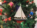 Handcrafted Model Ships Sailboat9-101-XMAS American Sailboat Christmas Tree Ornament 9