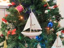 Handcrafted Model Ships Sailboat9-106-XMAS Pink Sailboat Christmas Tree Ornament 9