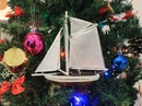 Handcrafted Model Ships Sailboat9-108-XMAS Columbia Sailboat Christmas Tree Ornament 9